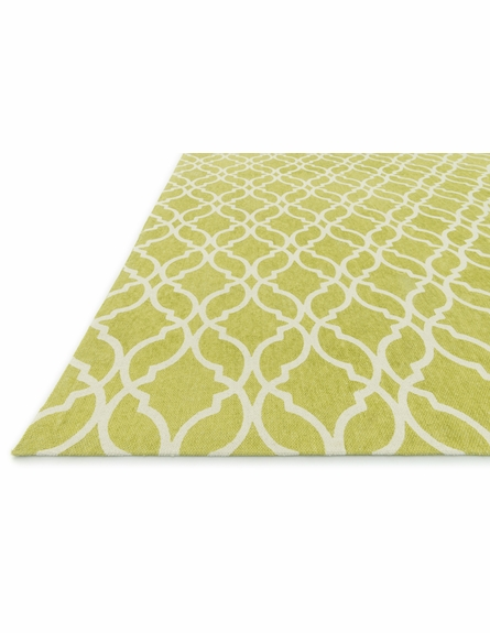 Apple Green Trellis Geo Rug