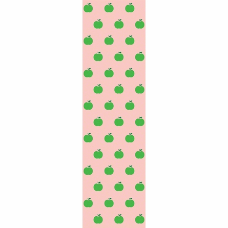 Apples in Green and Pink Removable Wallpaper
