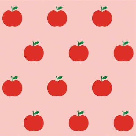 Apples in Red and Pink Removable Wallpaper