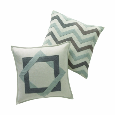 Applique Zig Zag Throw Pillow
