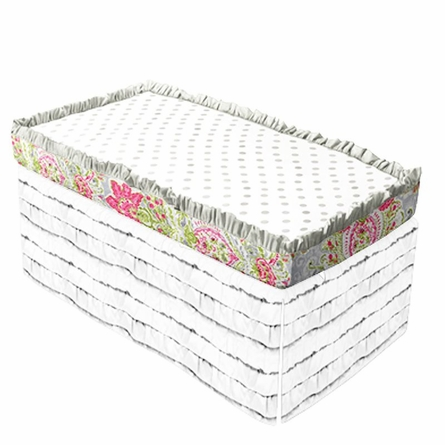 April Showers Bumperless Crib Sheet