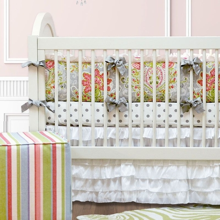 April Showers Crib Skirt