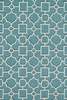 Aqua and Beige Geo Francesca Rug