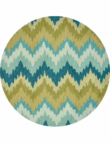 Aqua and Green Chevron Summerton Rug