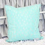 Aqua and Silver Sparkle Pillow Cover