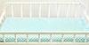 Aqua and White Polka Dot Changing Pad Cover