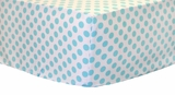Aqua and White Polka Dot Crib Sheet $(+54.00)