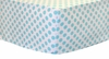 Aqua and White Polka Dot Crib Sheet
