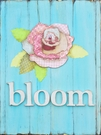 Aqua Bloom Canvas Wall Art