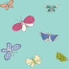 Aqua Butterflies Wallpaper