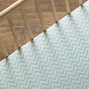 Aqua Chevron Crib Sheet