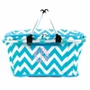 Aqua Chevron Monogram Insulated Picnic Cooler