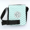 Aqua Chevron Monogram Sling Bag