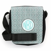 Aqua Greek Key Monogram Sling Bag