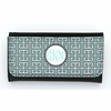 Aqua Greek Key Monogram Wallet