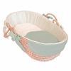 Houndstooth Aqua Tailored Moses Basket