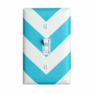 Aqua Large Chevron Light Switch Plate Cover