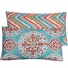 Aqua Medallion Lumbar Pillow