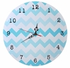 Aqua Ombre Chevron Wall Clock