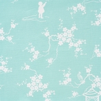 Aqua Pagoda Fabric by the Yard