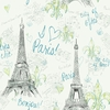 Aqua Paris Sketch Wallpaper
