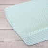 Aqua Polka Dot Changing Pad Cover