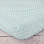 Aqua Polka Dot Crib Sheet