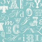 Aqua Word Play Alphabet Wallpaper
