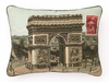 Arc De Triomphe Needlepoint Pillow