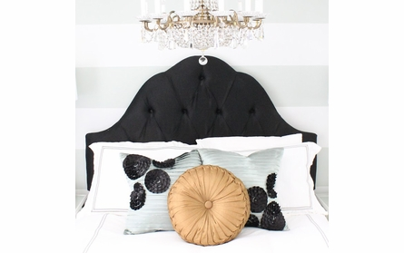 Arch Tufted Upholstered Headboard