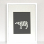 Argyle Polar Bear Art Print