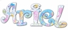 Ariel Sea Life Hand Painted Wall Letters