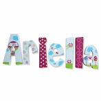Ariella Pink Animal Friends Hand Painted Wall Letters