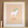 Aries Zodiac Sign Art Print