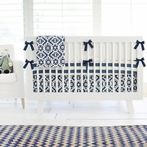 Arizona in Navy Crib Bedding Set