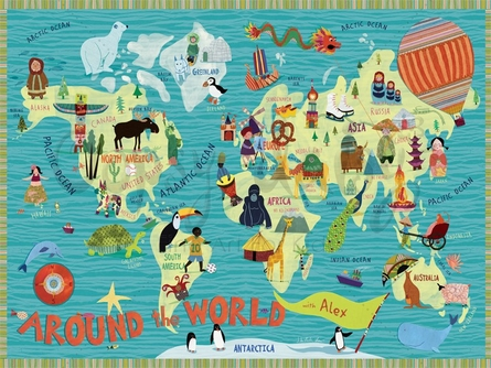 Around the World Canvas Wall Art