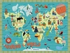 Around the World Canvas Wall Mural