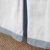 Ash Windowpane Bed Skirt