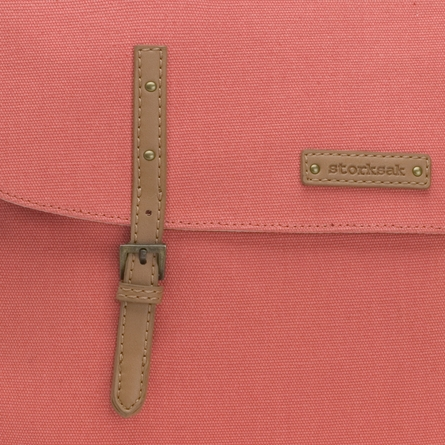 Ashley Canvas Diaper Bag in Coral