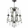 Ashton Four Light Clear Crystal Bronze Mini Chandelier