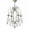 Ashton Four Light Clear Crystal Silver Mini Chandelier