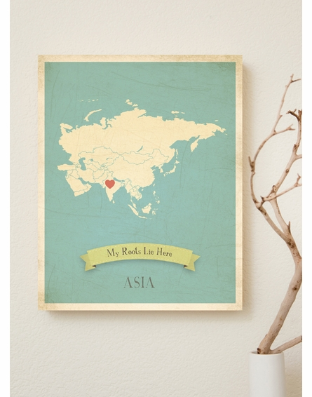 Asia My Roots Continental Map Art Print
