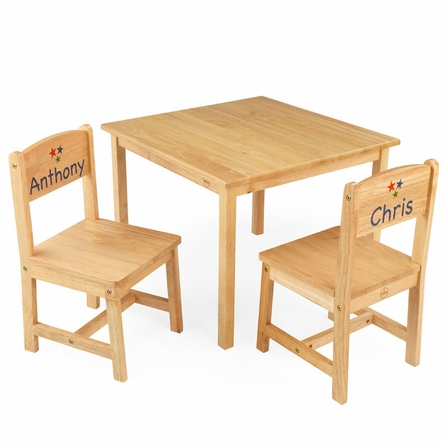 Aspen Table and Two Chair Set - Natural