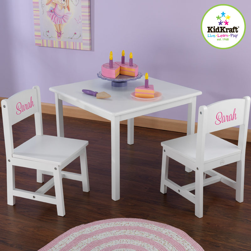 Aspen Table And Two Chair Set White By Kidkraft