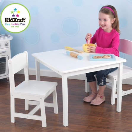 Aspen Table and Two Chair Set - White