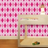 Astonishing Argyle Removable Wallpaper in Ballerina Pink