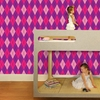 Astonishing Argyle Removable Wallpaper in Bubble Princess