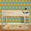 Astonishing Argyle Removable Wallpaper in Circus Mix
