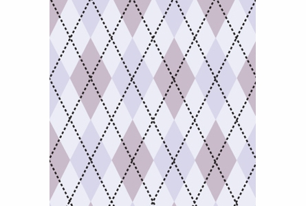 Astonishing Argyle Removable Wallpaper in Mauve Purple