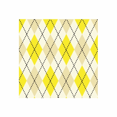 Astonishing Argyle Removable Wallpaper in Sunrise Yellow